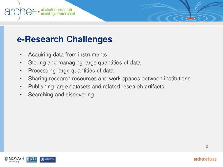 E research challenges