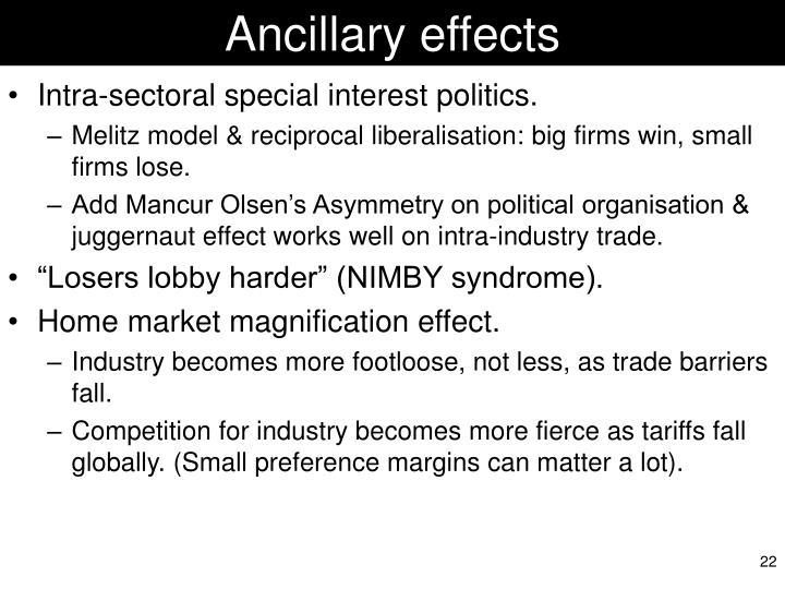 Ancillary effects