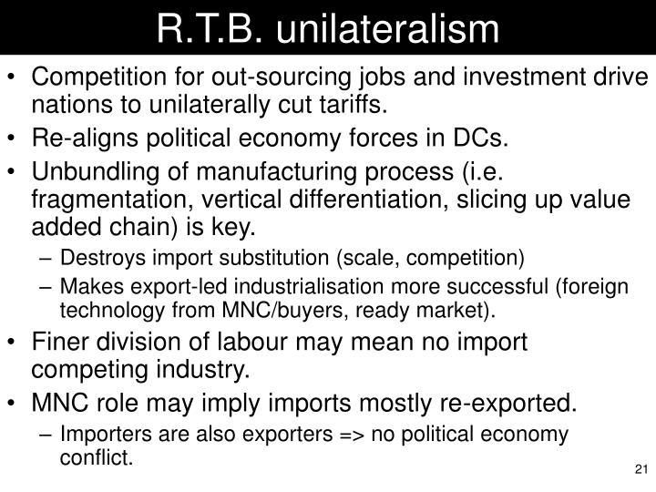 R.T.B. unilateralism