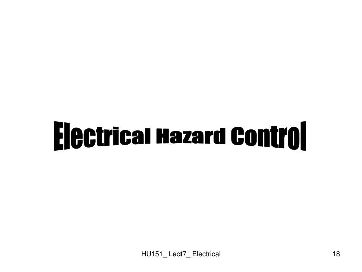 Electrical Hazard Control