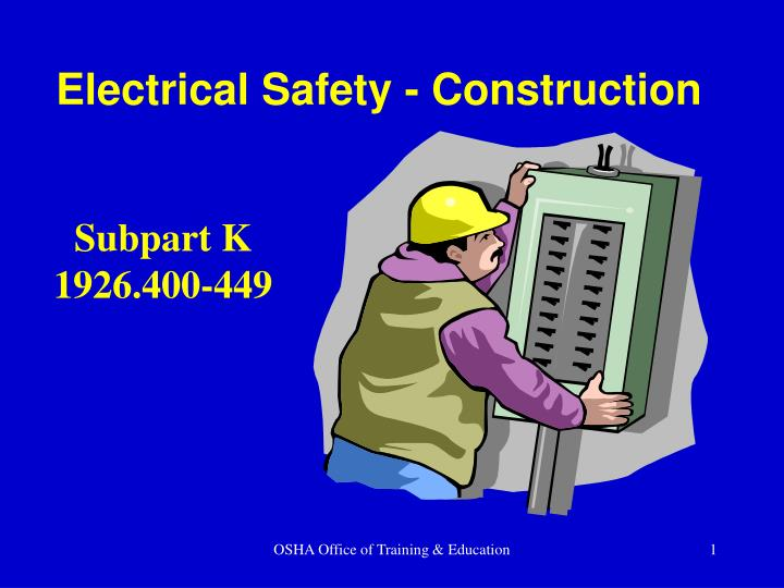 Electrical safety construction