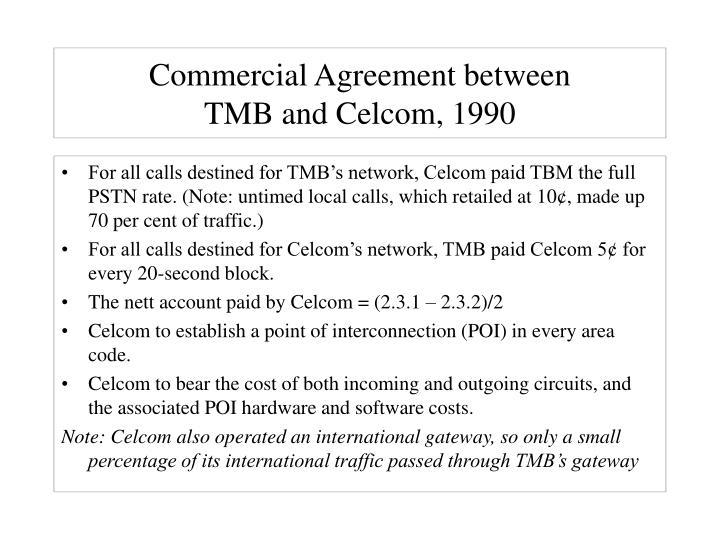 Commercial Agreement between