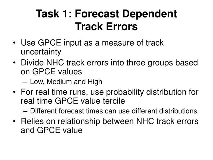 Task 1: Forecast Dependent