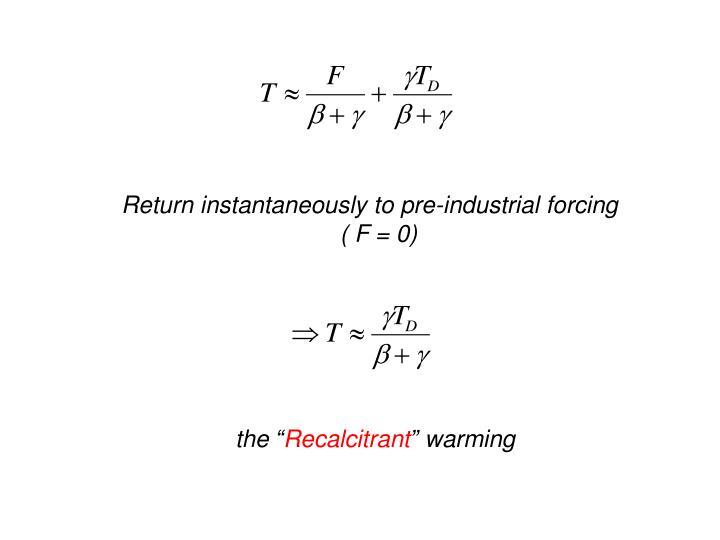 Return instantaneously to pre-industrial forcing