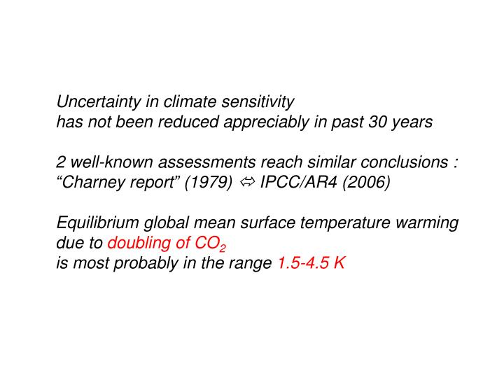 Uncertainty in climate sensitivity