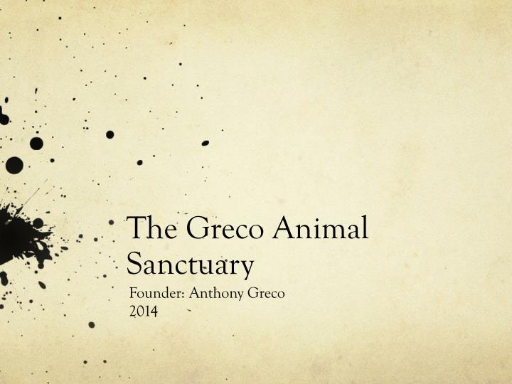 the greco animal sanctuary n.