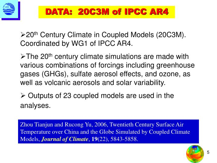 DATA:  20C3M of IPCC AR4