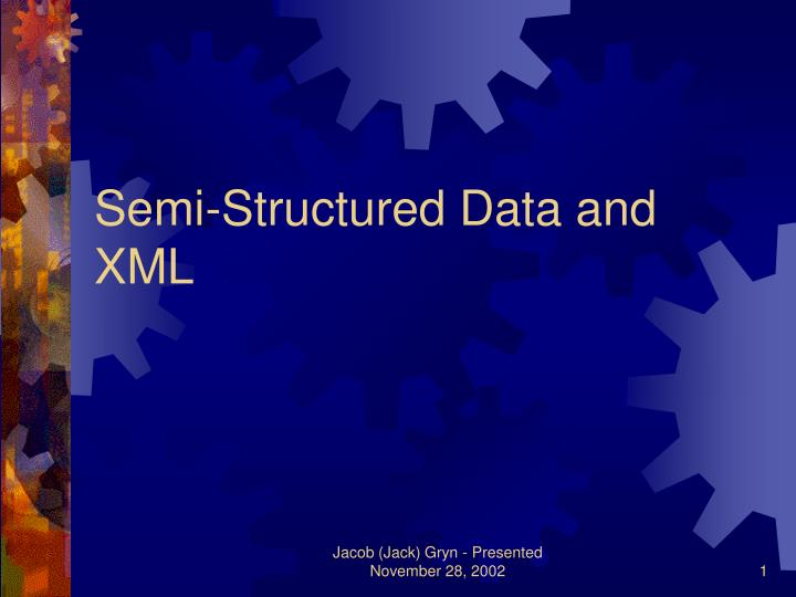 semi structured data and xml n.