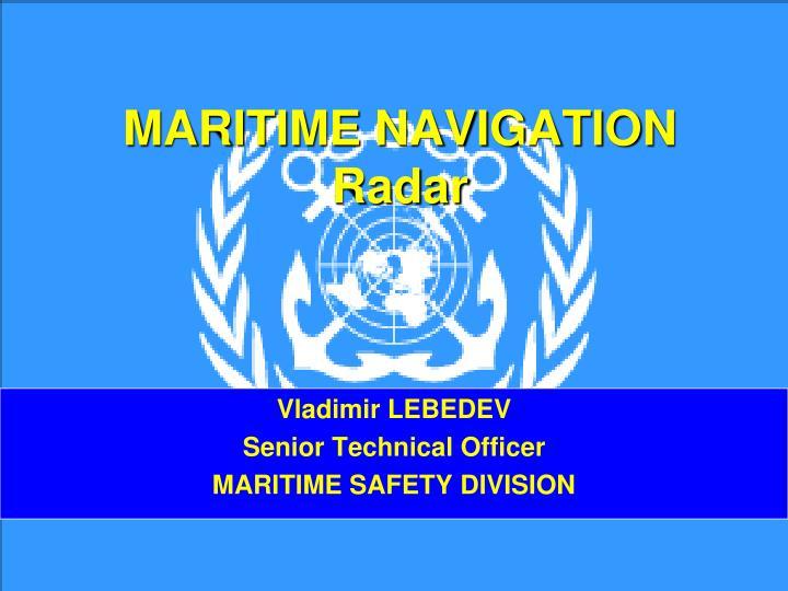 maritime navigation radar n.