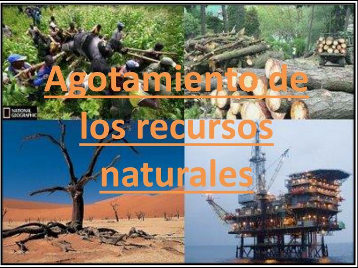 agotamiento de los recursos naturales n.