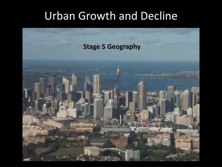 urban growth and decline n.