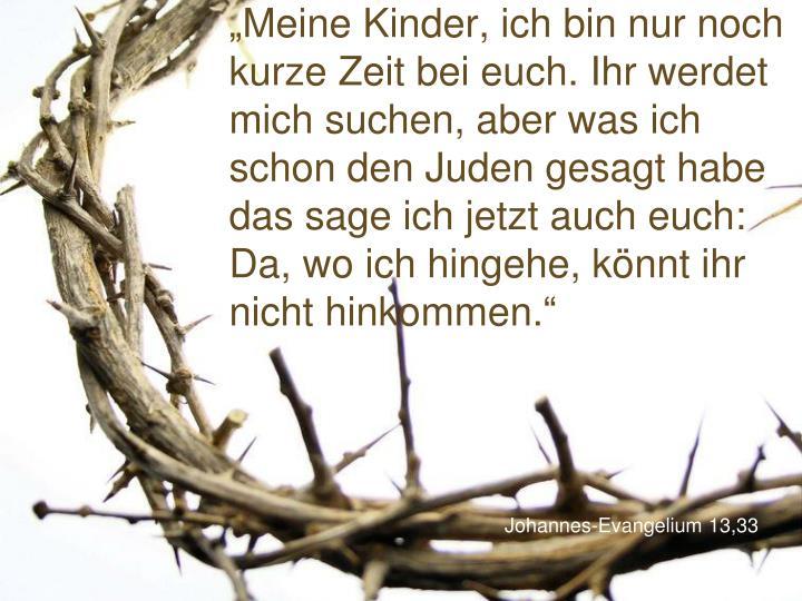 Johannes evangelium 13 33