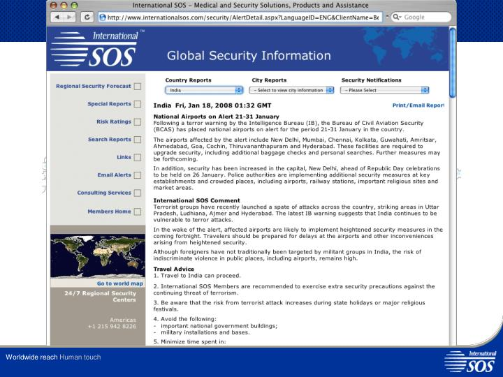 SOS Security Threat