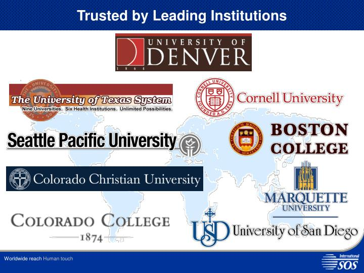 Trusted by leading institutions