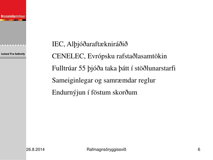 IEC, Alþjóðaraftækniráðið