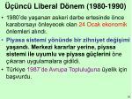 nc liberal d nem 1980 1990