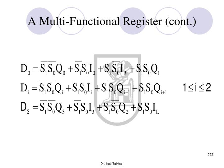 A Multi-Functional Register (cont.)