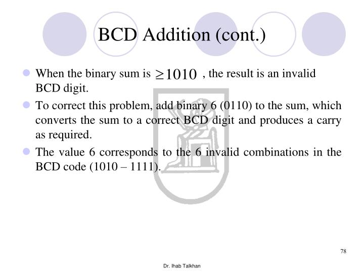 BCD Addition (cont.)