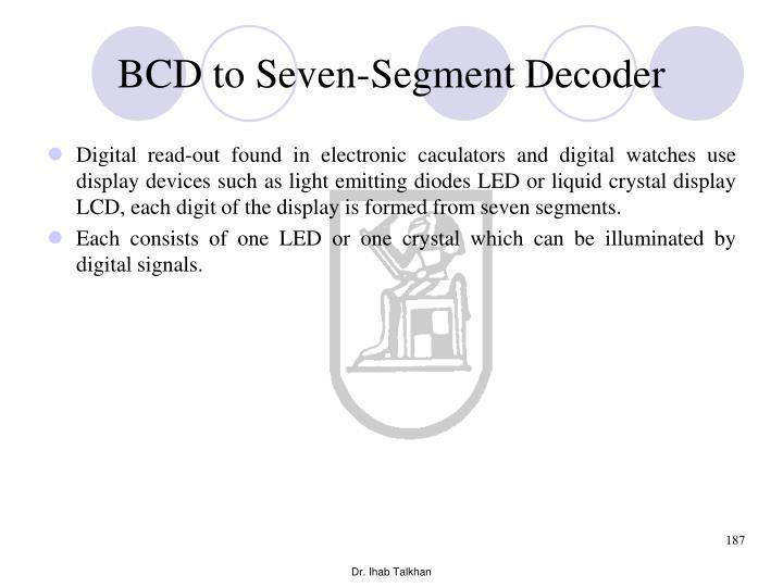 BCD to Seven-Segment Decoder
