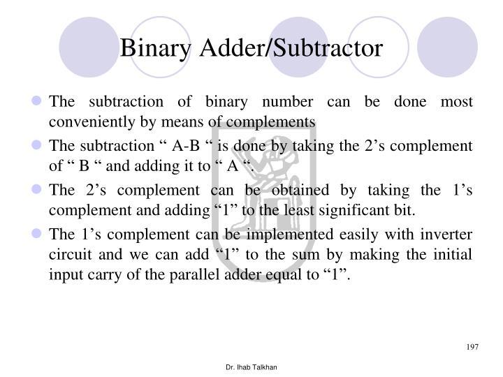 Binary Adder/Subtractor