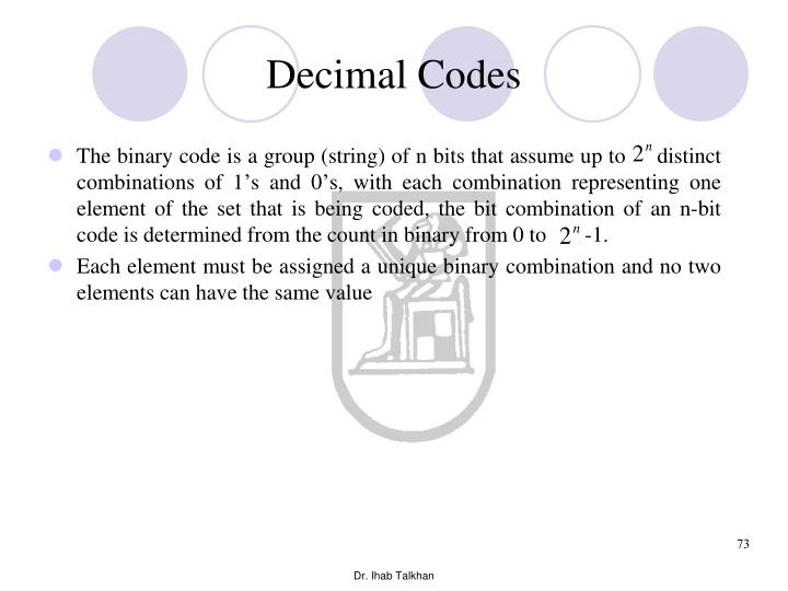 Decimal Codes
