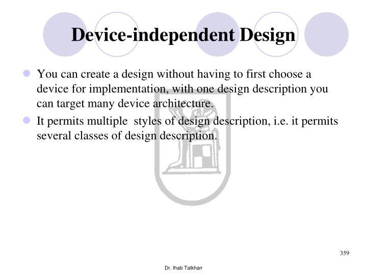 Device-independent Design