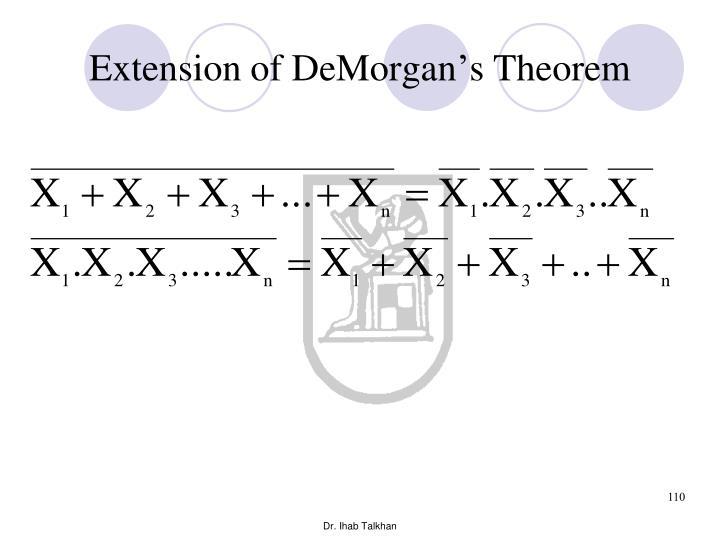 Extension of DeMorgan's Theorem