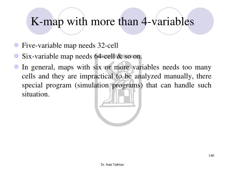 K-map with more than 4-variables