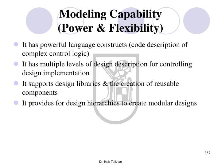 Modeling Capability