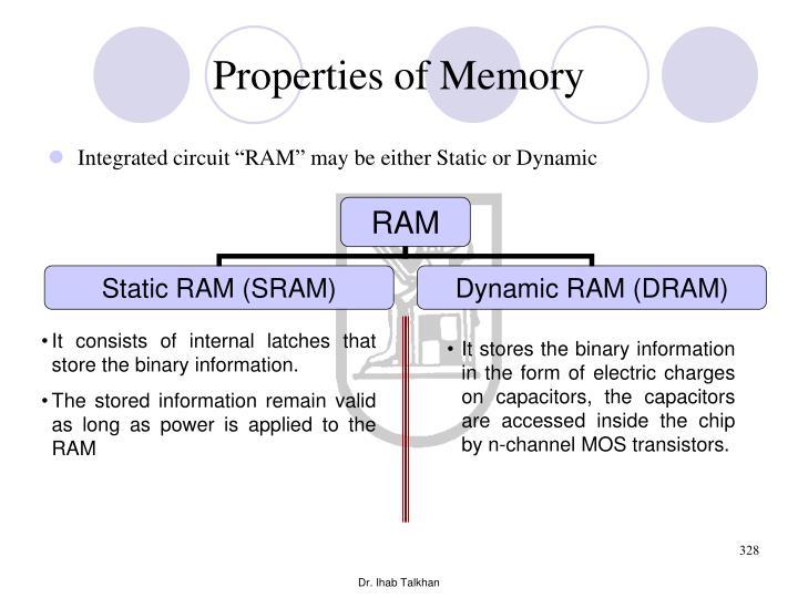 Properties of Memory