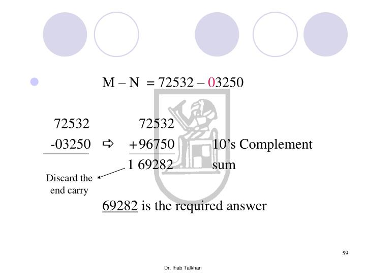 M – N  = 72532 –