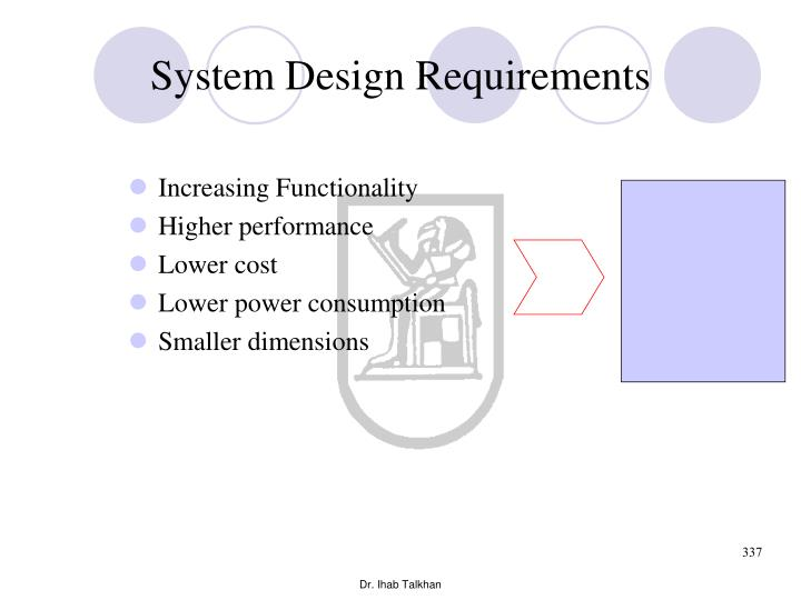 System Design Requirements