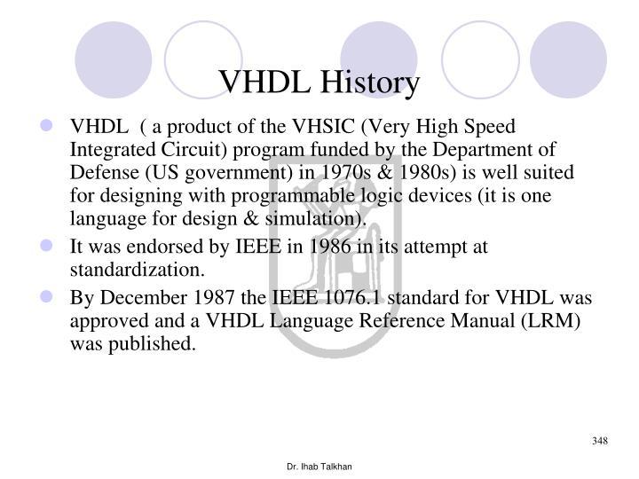 VHDL History