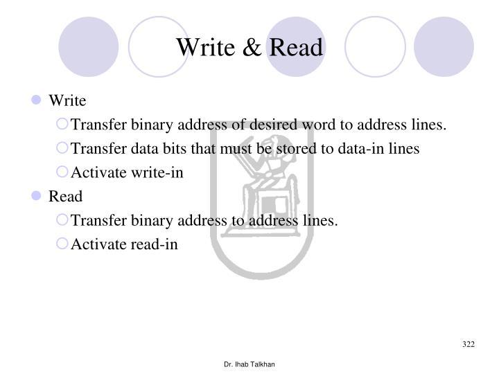 Write & Read