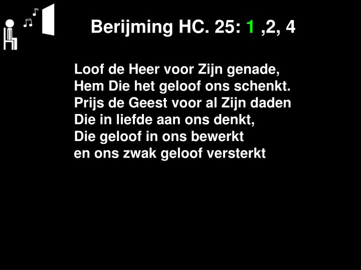 Berijming HC. 25: