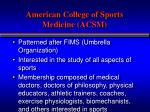 american college of sports medicine acsm