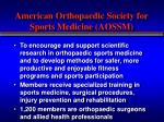 american orthopaedic society for sports medicine aossm