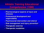 athletic training educational competencies 19991