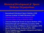 historical development of sports medicine organizations2