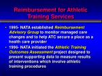 reimbursement for athletic training services3