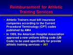 reimbursement for athletic training services4
