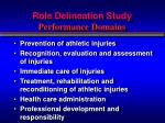 role delineation study performance domains