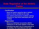state regulation of the athletic trainer3