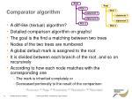 comparator algorithm