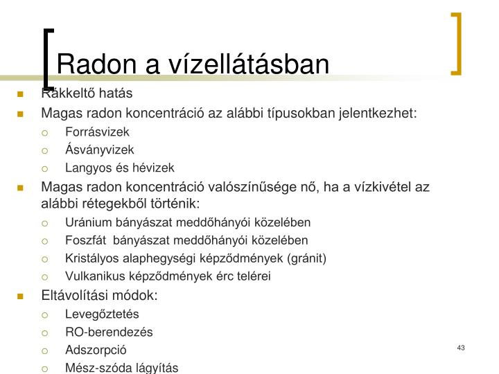 Radon a vízellátásban