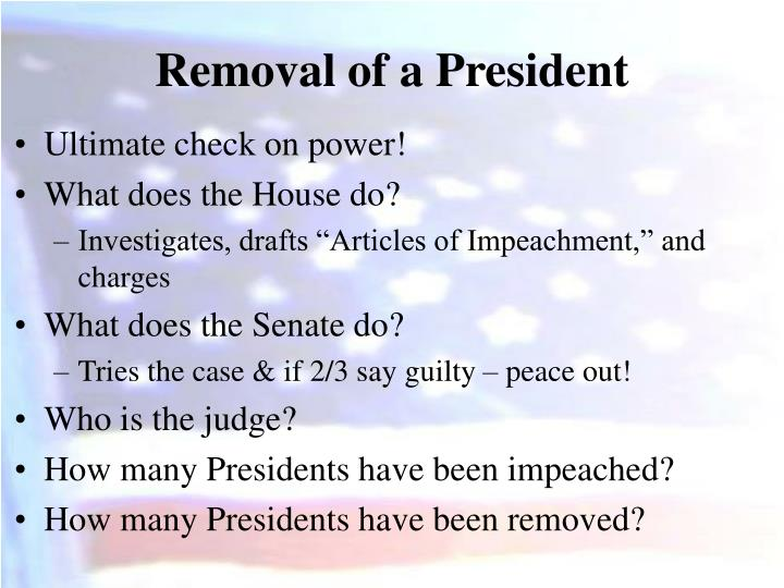 Removal of a President