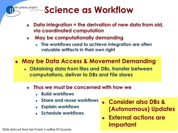 Science as Workflow