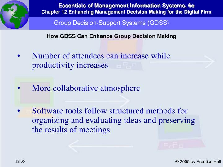 Group Decision-Support Systems (GDSS)