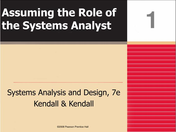 assuming the role of the systems analyst n.