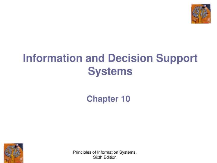 information and decision support systems n.